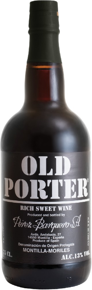 Old Porter 13% Rich sweet wine